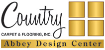 Country Carpet & Flooring Abbey Design Center has experts to help you with all of your carpet, hardwood, tile, stone, laminate, vinyl, area rugs & window fashions!  Stop by today to learn more!